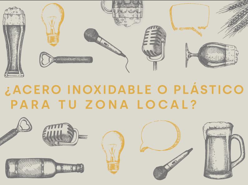 ¿Acero inoxidable o plástico para tu local?